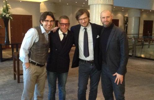 С Лапо (второй слева), а также Витторио и Федерико из Smeg