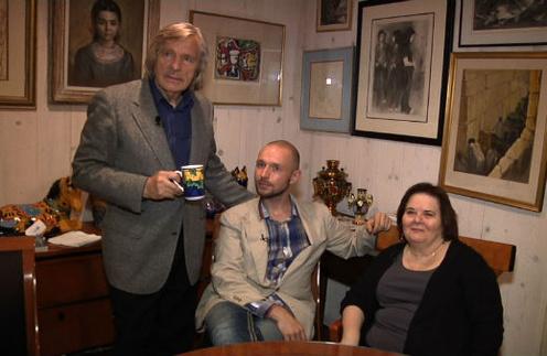 С женой Джоан и сыном Сергеем