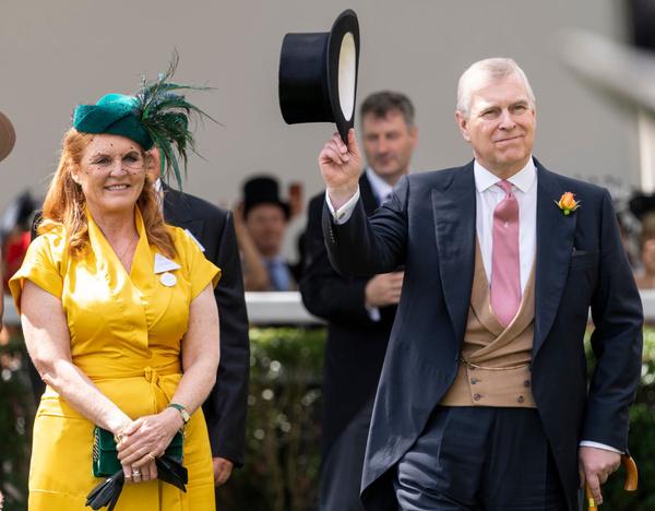 Принц Эндрю с женой Сарой