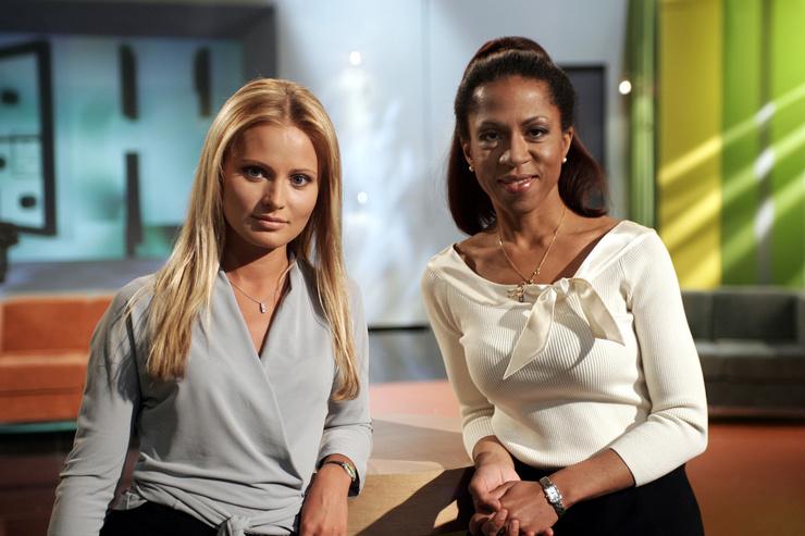 Дана Борисова и Елена Ханга вместе вели «Принцип домино»