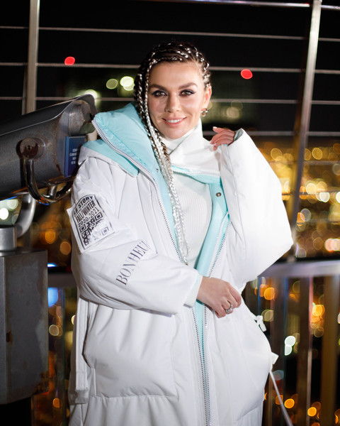Анна Седокова на презентации клипа