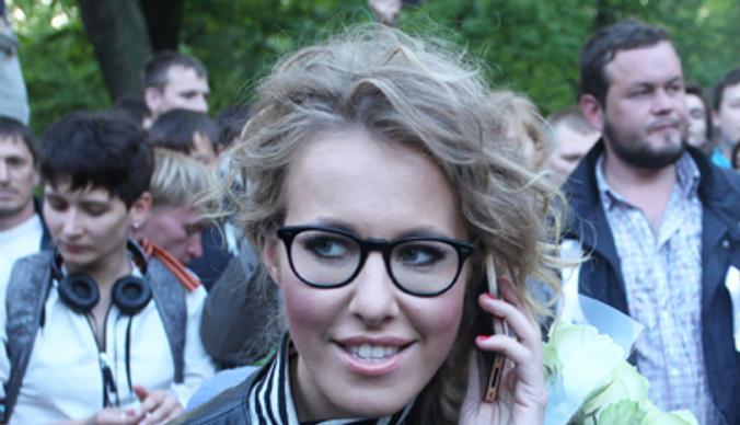 Собчак и Яшин: акция оппозиции  на Чистых прудах