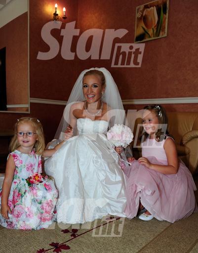 Невеста с племянницами жениха Полиной и Варей