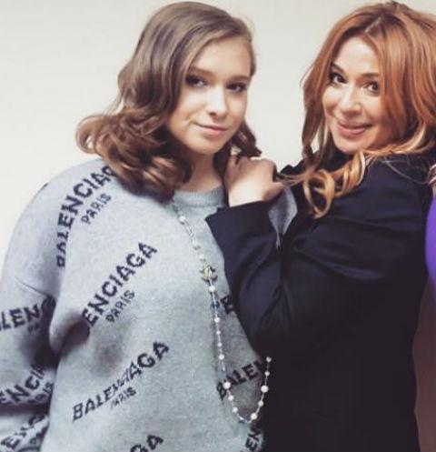 Алена Апина с дочерью Ксенией