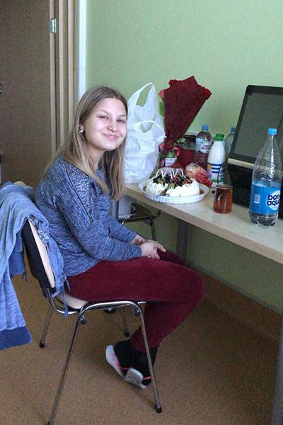Дочь Настя