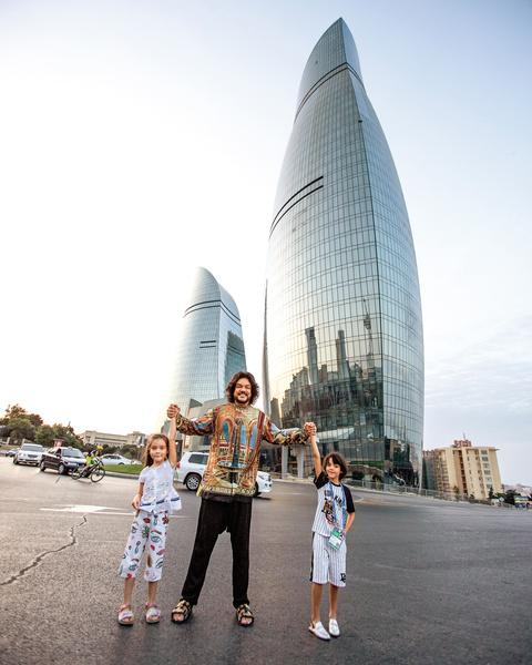 Мартин и Алла-Виктория были в Баку впервые