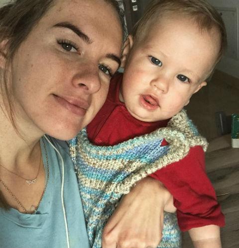 Мария Комиссарова с сыном