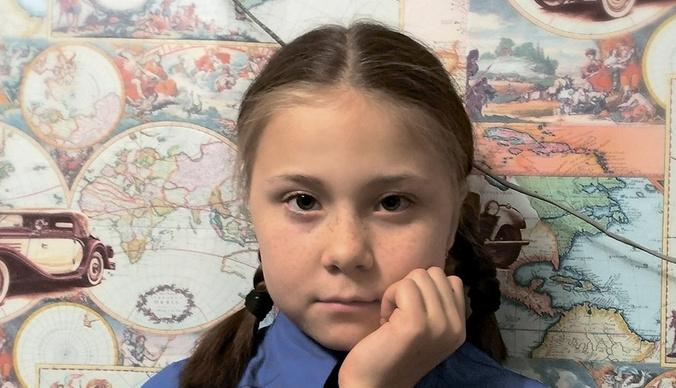 Русская Грета Тунберг мечтает стать маcтером маникюра