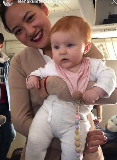 Кулецкая больше не скрывает лица младшей дочери