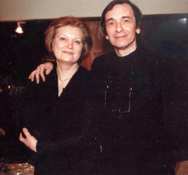 Наталья Попович с мужем Евгением Колобовым