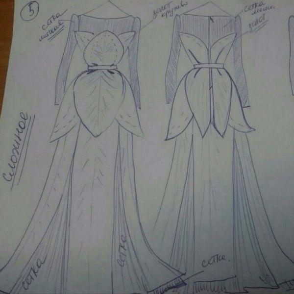 Дизайнер подготовил для Камирен эскизы, из которых ей предстоит выбрать себе подвенечный наряд