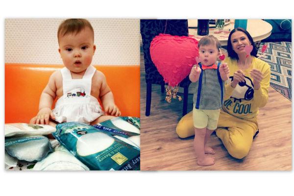 Эвелина Семина-Бледанс с сыном