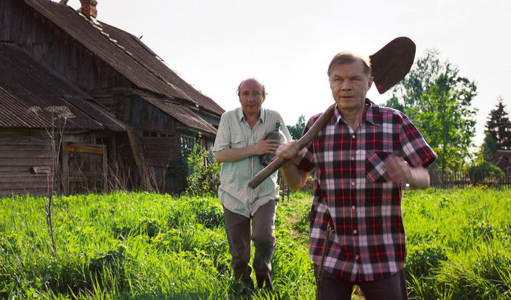 Кадр из фильма «Человек из будущего»: на переднем плане — Александр Баширов