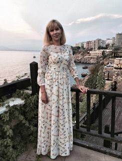 Светлана Устиненко летом на отдыхе в Турции