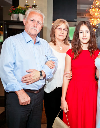 Родители Екатерины - Вячеслав Михайлович и Нина Львовна, их внучка Дина Немцова