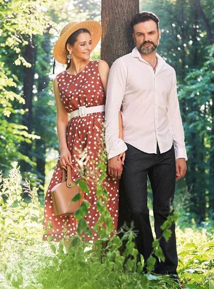 Глафира Тарханова с мужем Алексеем Фадеевым