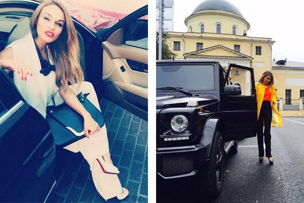 Алена Водонаева временно без машины, Боня передвигается по Москве на элитном внедорожнике
