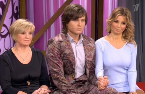 Прохор Шаляпин с невестой Татьяной и ее мамой Валентиной Васильевной