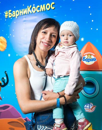 Елена Борщева с младшей дочерью
