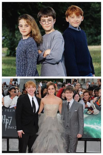 Тогда и сейчас: фото с финального кастинга «Гарри Поттера» и с одной из красных дорожек