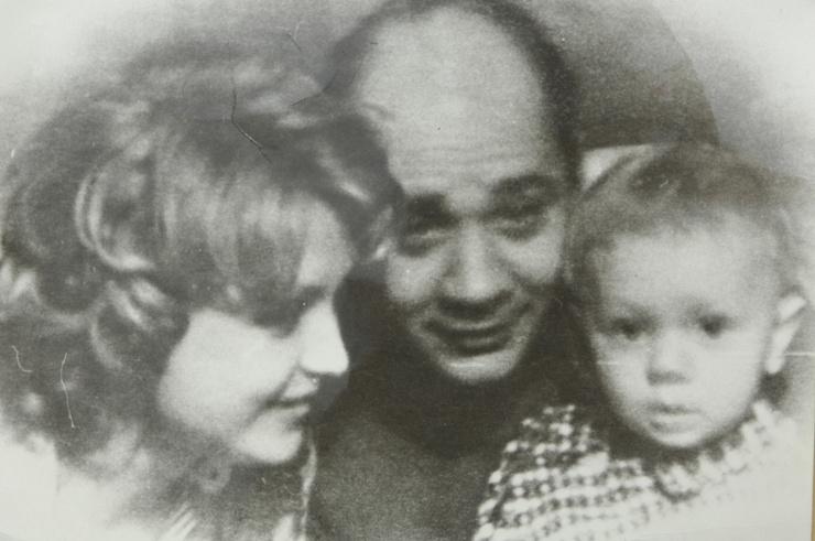 Евгений Леонов с семьей