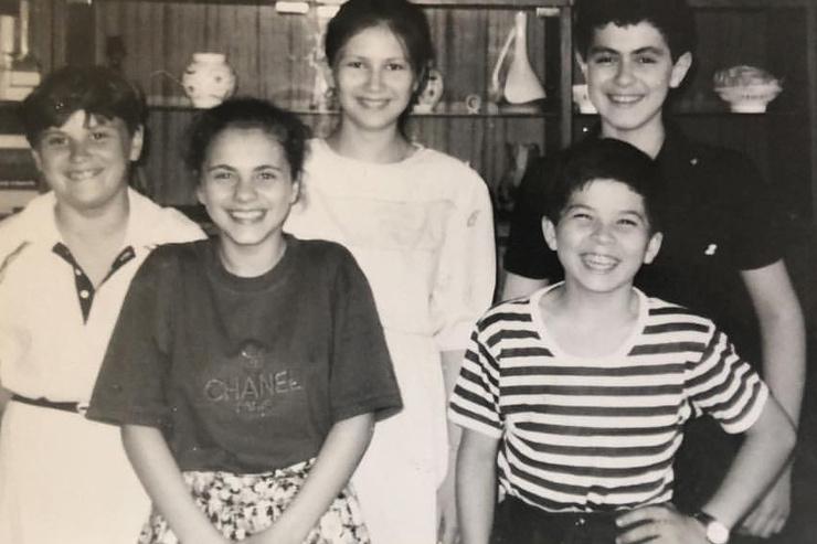Наталья Еприкян в детстве (вторая слева)