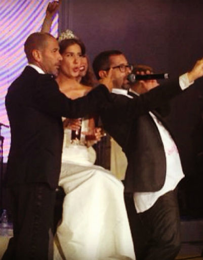 Новобрачные с удовольствием участвовали в концерте