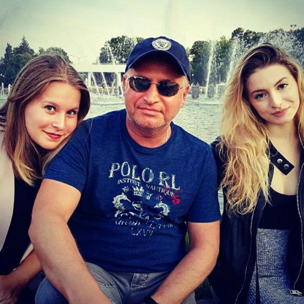 Леонид Агутин с дочками Полиной и Лизой