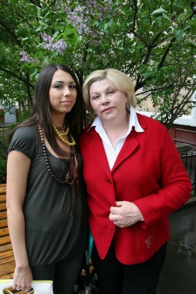 Елена Драпеко с дочерью Анастасией
