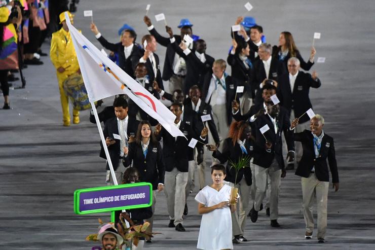 Команда беженцев на Олимпийских играх в Рио-де-Жанейро