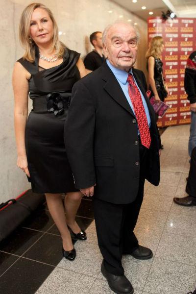 Владимир Шаинский с супругой на церемонии вручения музыкальной премии
