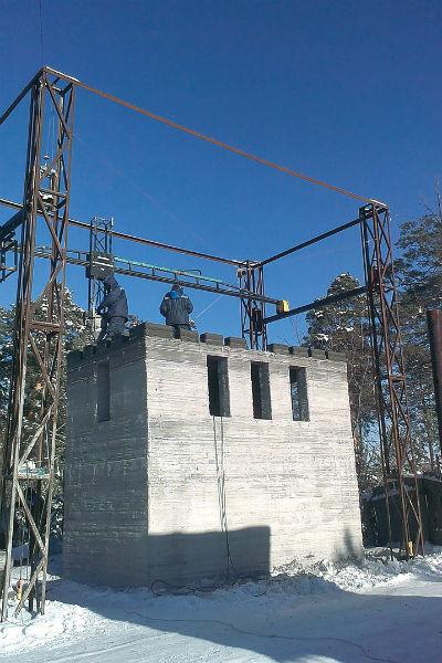На строительство помещения для охраны завода ушло почти три тонны специальной смеси