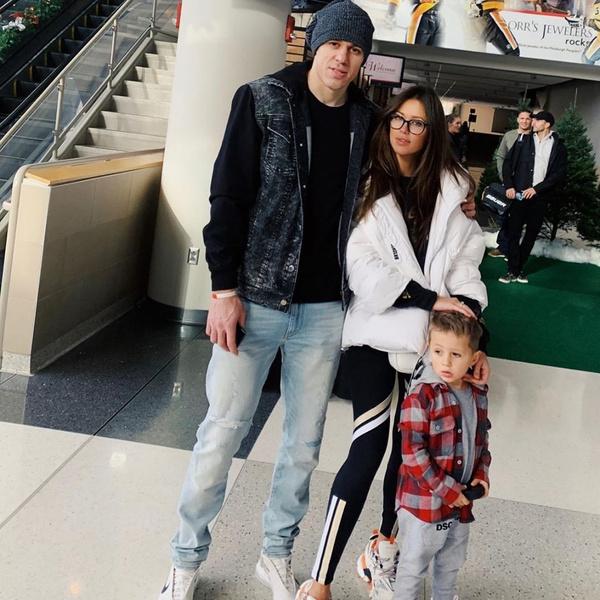 Малкин с женой Анной и сыном Никитой