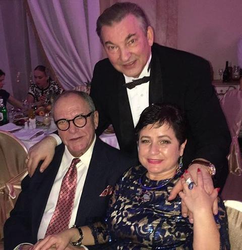 Владислав Третьяк с Эммануилом Виторганом и Ириной Млодик