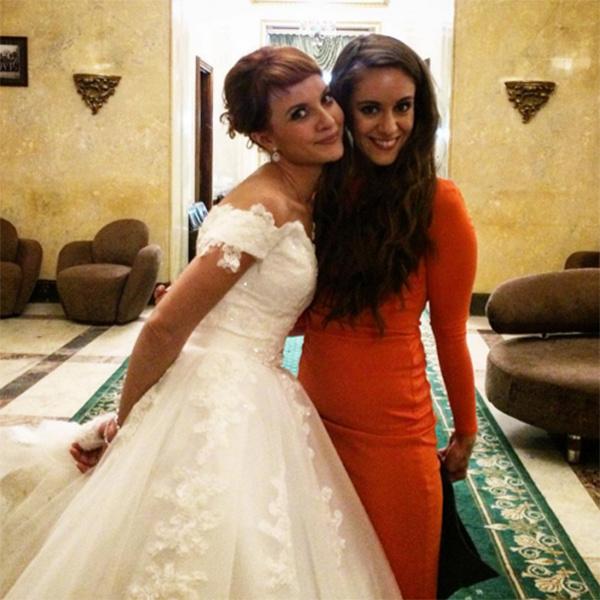 Снимками со свадьбы Александры Шевчук поделились ее подруги
