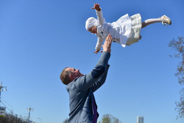 3-летняя дочка пары Настя была в восторге