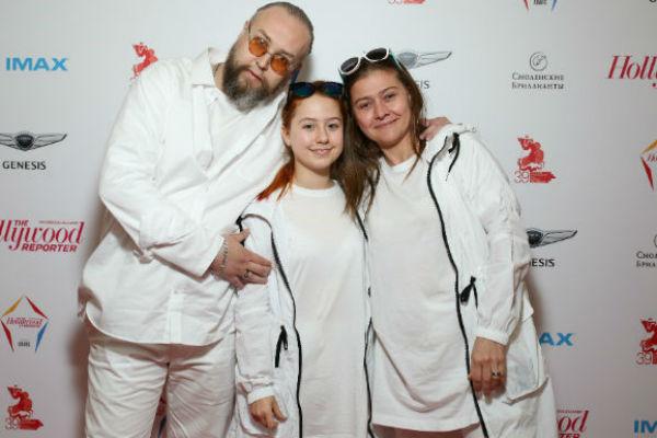 Борис Ливанов с дочерью и Мария Голубкина