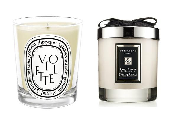 Ароматическая свеча Diptyque Violette Scented Candle, Ароматическая свеча Jo Malone Sweet Almond & Macaroon