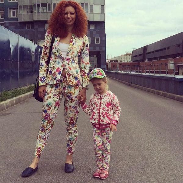 Юлия Коган с дочерью