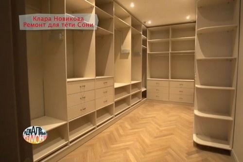 Площадь гардеробной - 17 кв.м