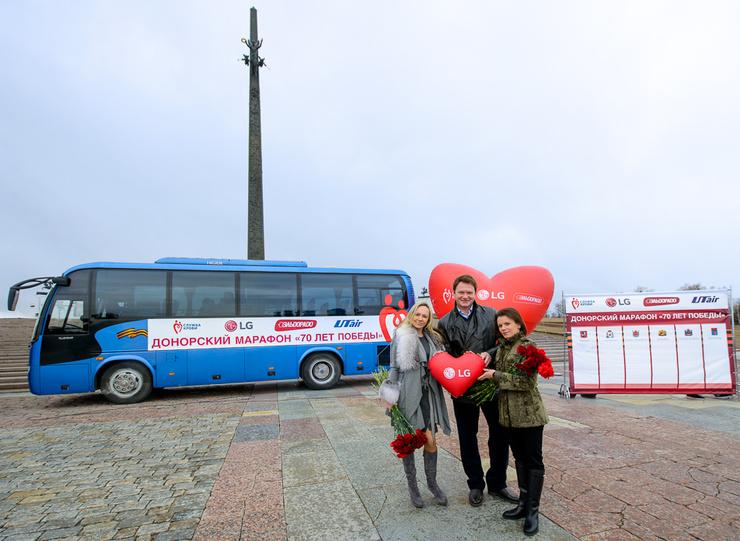 Мария Бутырская, Алексей Тихонов и Мария Петрова на Поклонной горе