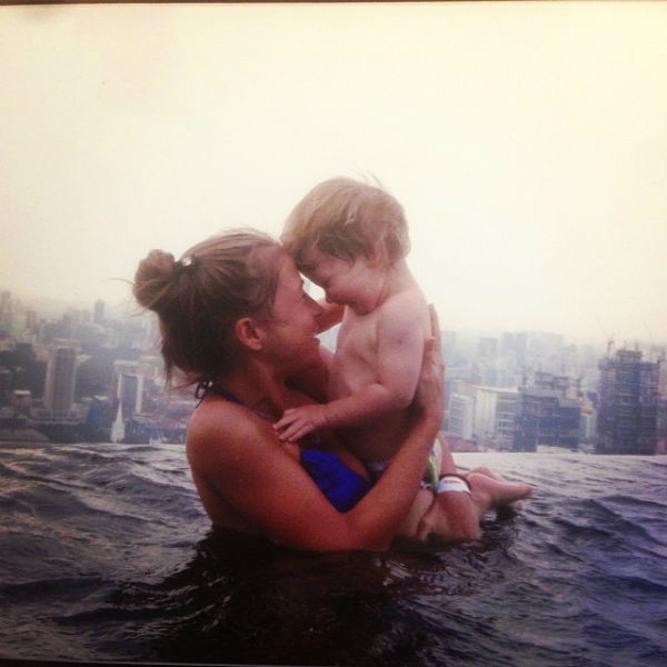 С младшим сыном Сеней