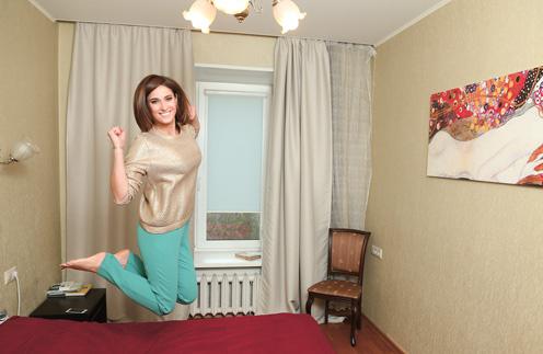 Рита любит, когда в квартире мало мебели – все только самое нужное