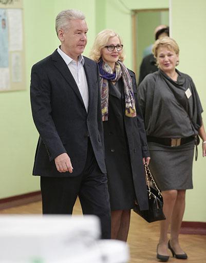 Ирина и Сергей Собянины на выборах мэра в 2013 году
