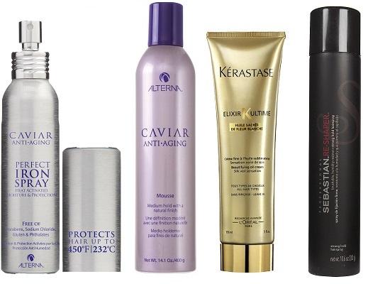 Alterna Термозащитный спрей для волос, Alterna Мусс для волос, Kerastase Многофункциональный крем на основе масла, преображающий все типы волос, Sebastian Лак для волос