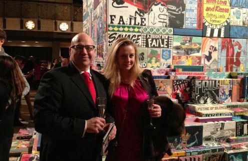 С американским другом Корнелиусом Экономи на Бродвее. Апрель, 2013 год