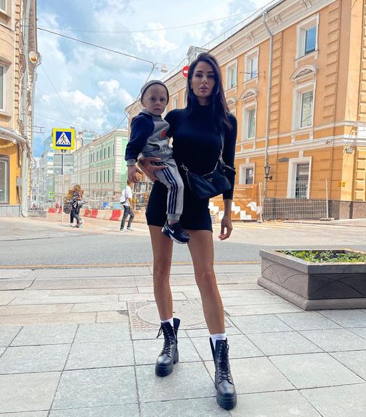 Саша Кабаева с сыном