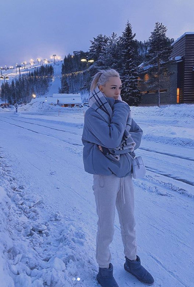 Диана впервые отдыхает на горнолыжном курорте