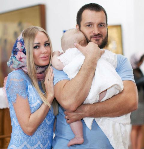 Алексей Самсонов с бывшей женой и сыном