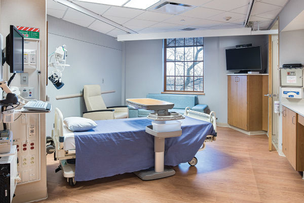 Стандартная палата в госпитале Святой Марии